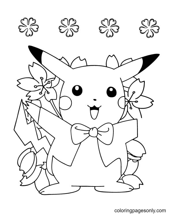 Amazing Pikachu Coloring Page