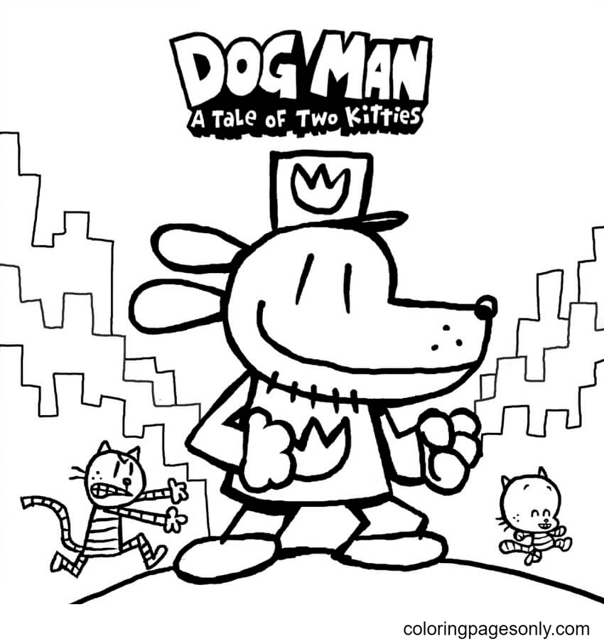 Awesome Dog Man Coloring Page