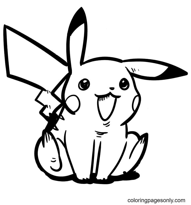 Baby Pikachu Pokemon Coloring Page
