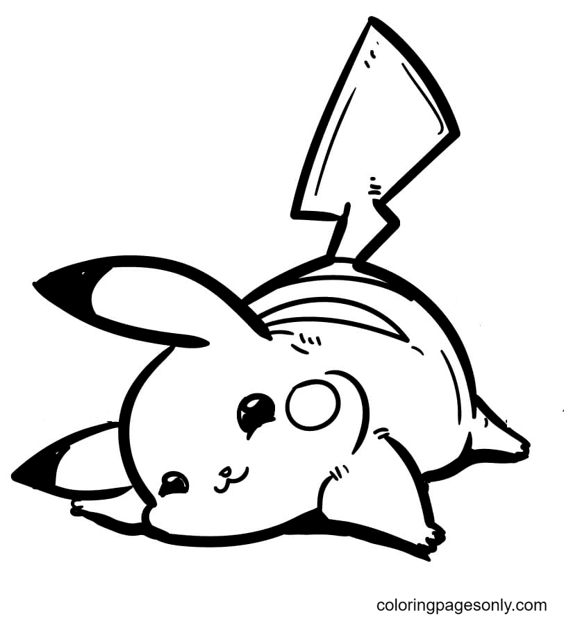 Baby Pikachu Coloring Page