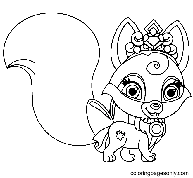 Beautiful Baby Fox Coloring Page