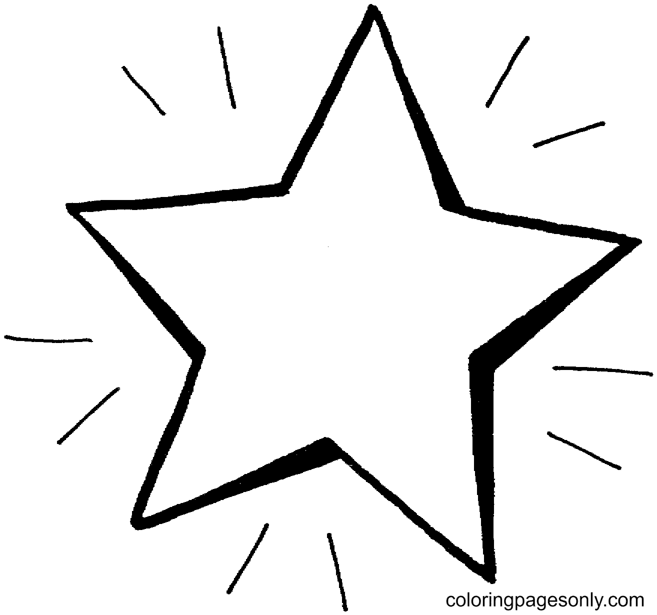 Bright Star Coloring Page
