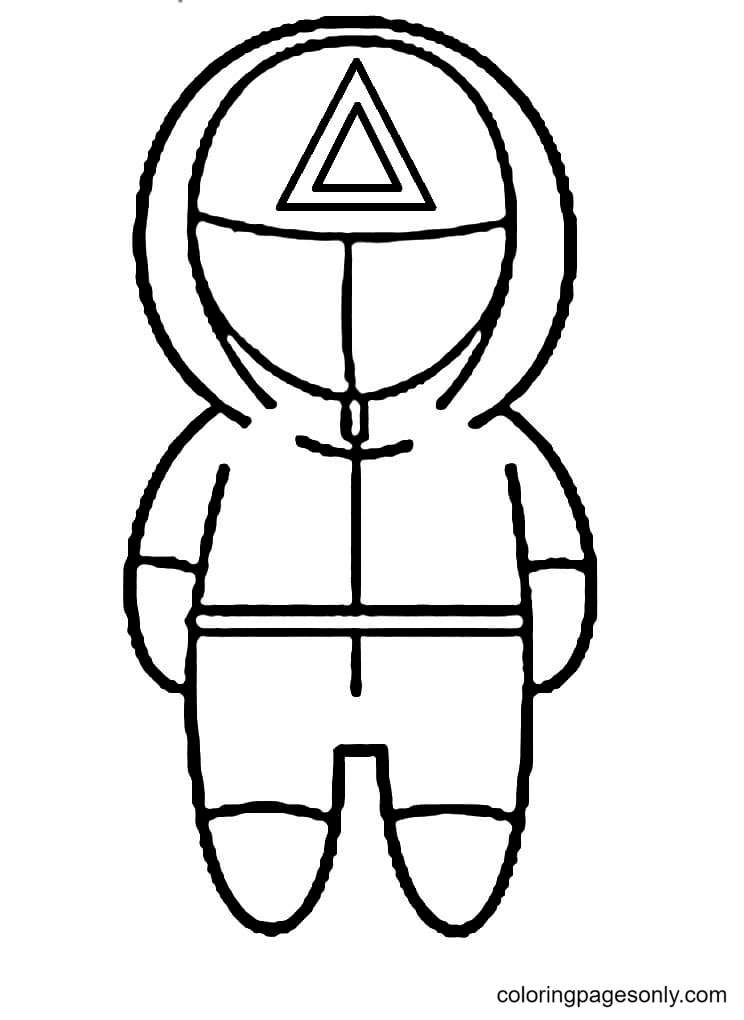 Character Squid Game Coloring Page