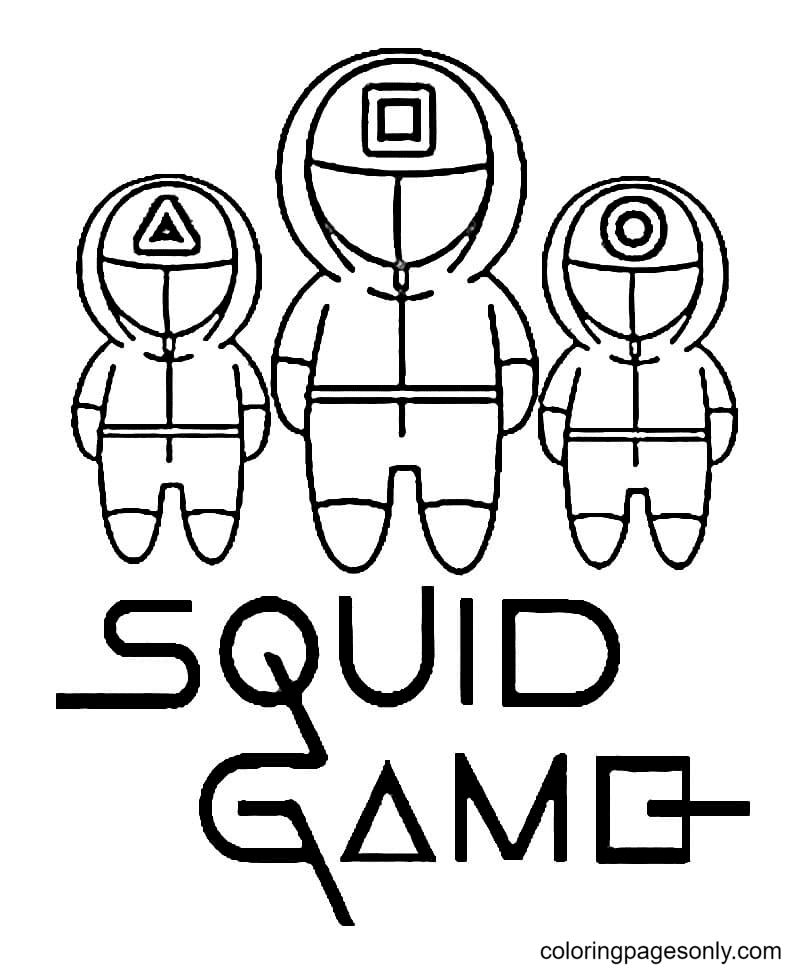 Squid Game Coloring Page
