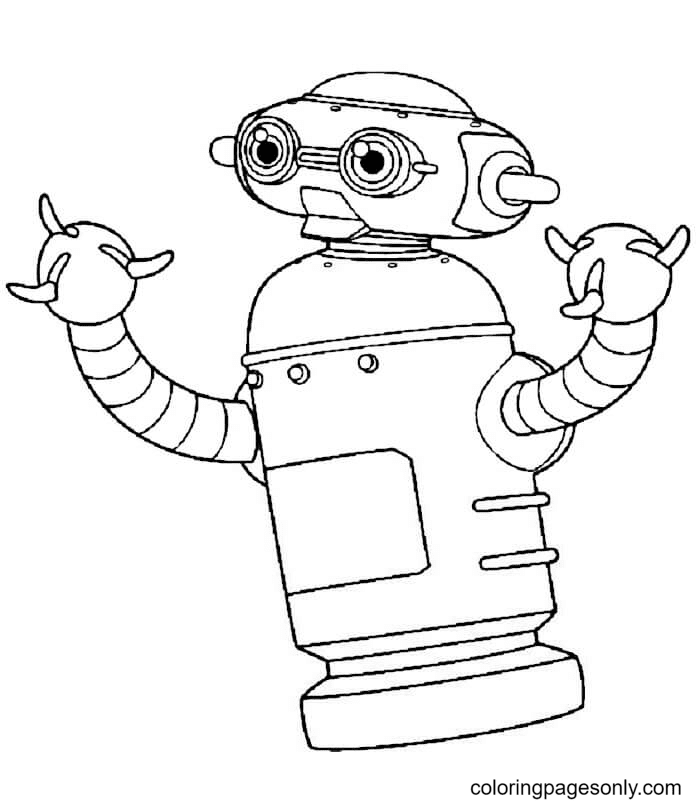 Chicken Robot Coloring Page