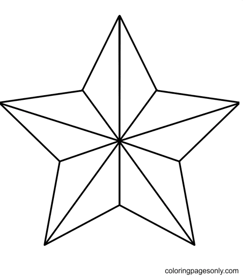 Christmas Star Free Coloring Page