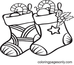 Christmas Stockings Coloring Pages