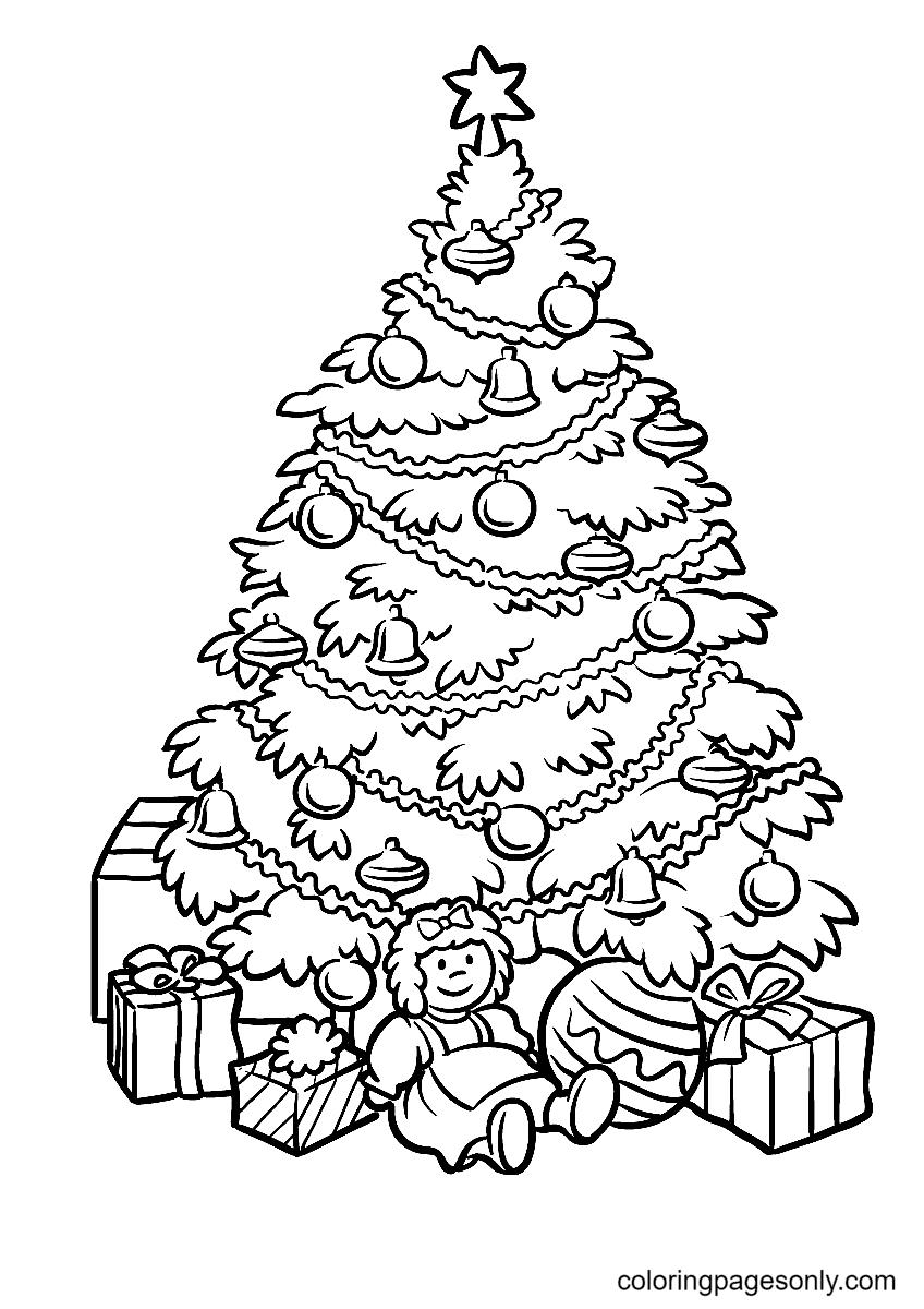 Christmas Tree Print Coloring Page