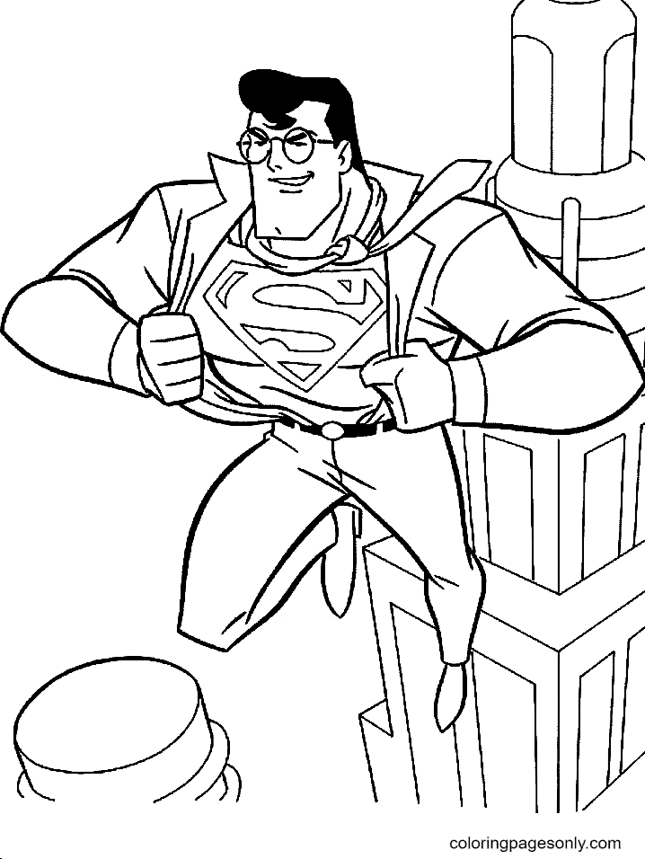 Clark Kent is a Superman Coloring Page