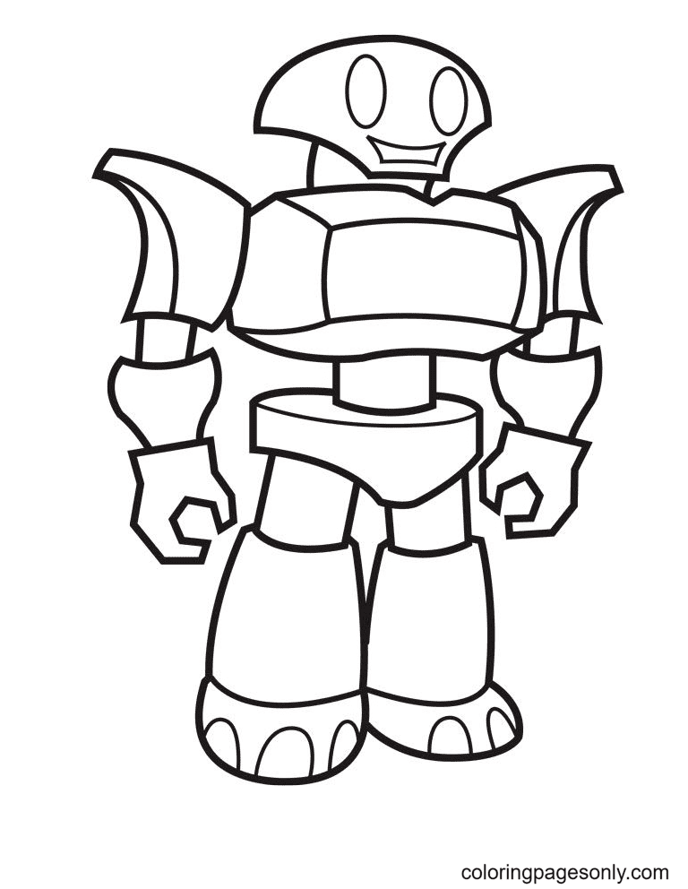 Cool Robot To Print Coloring Page