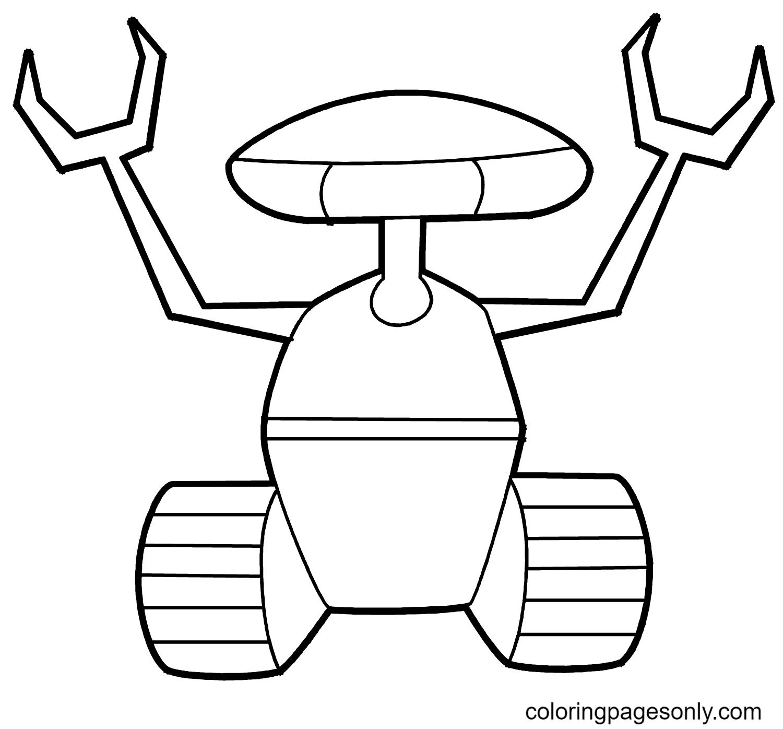 Crawler Robot Coloring Page