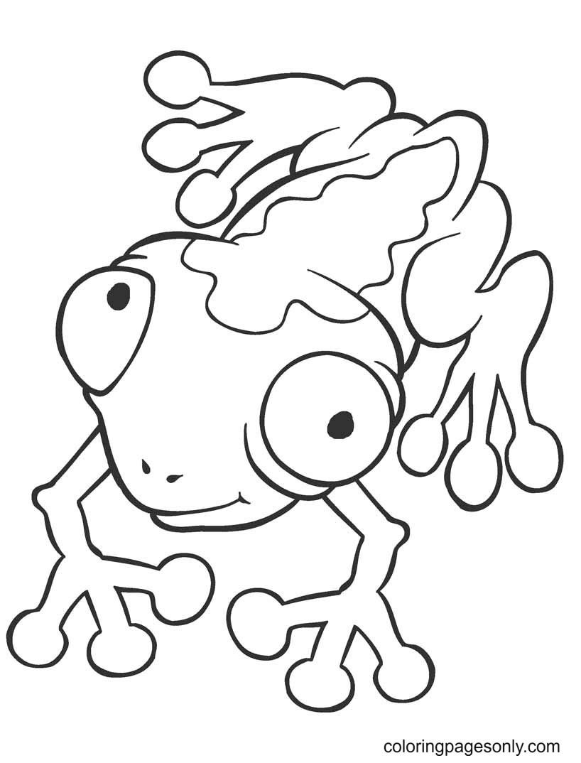 Crazy Frog Free Coloring Page