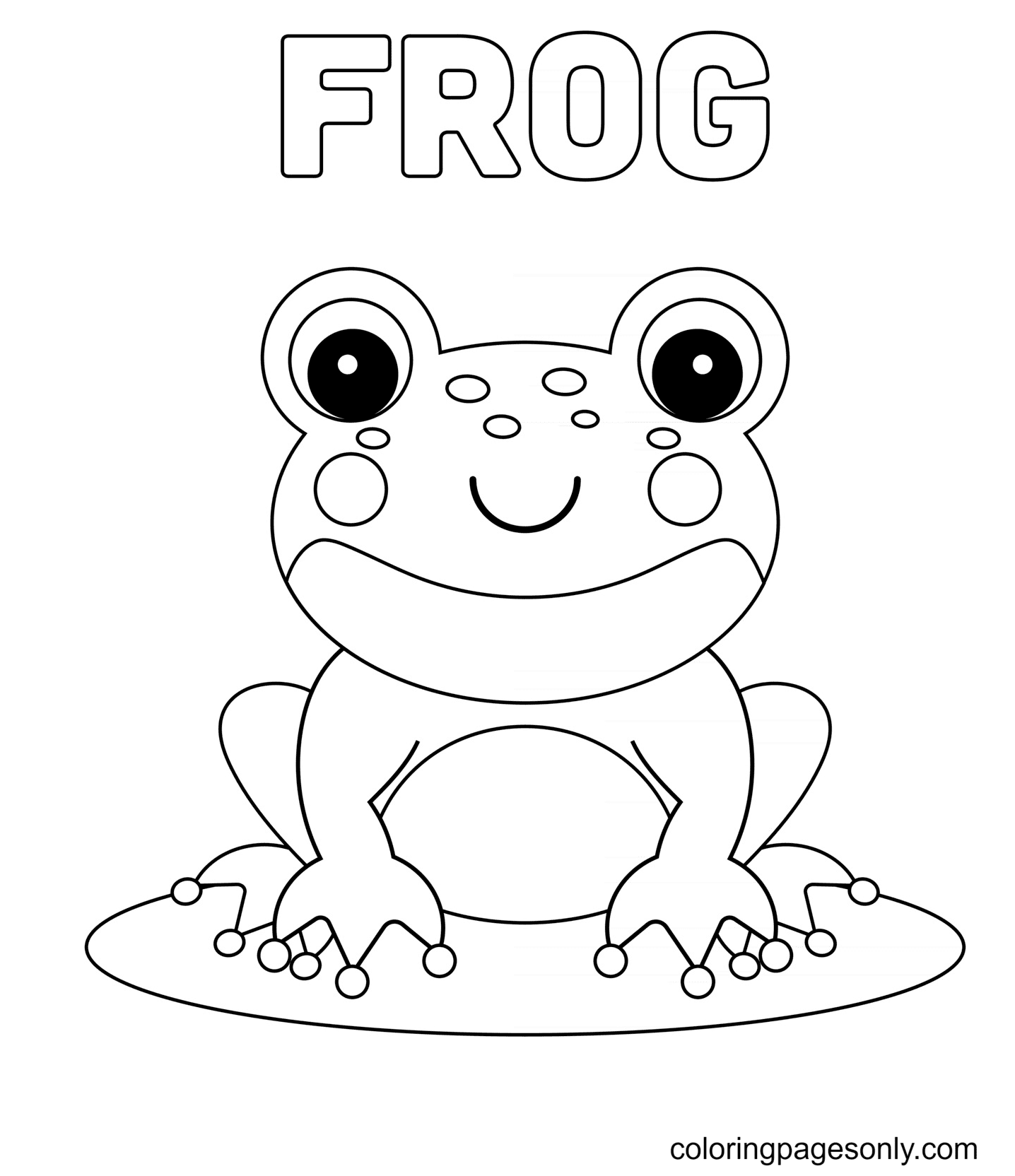 Cute Baby Frog Coloring Page