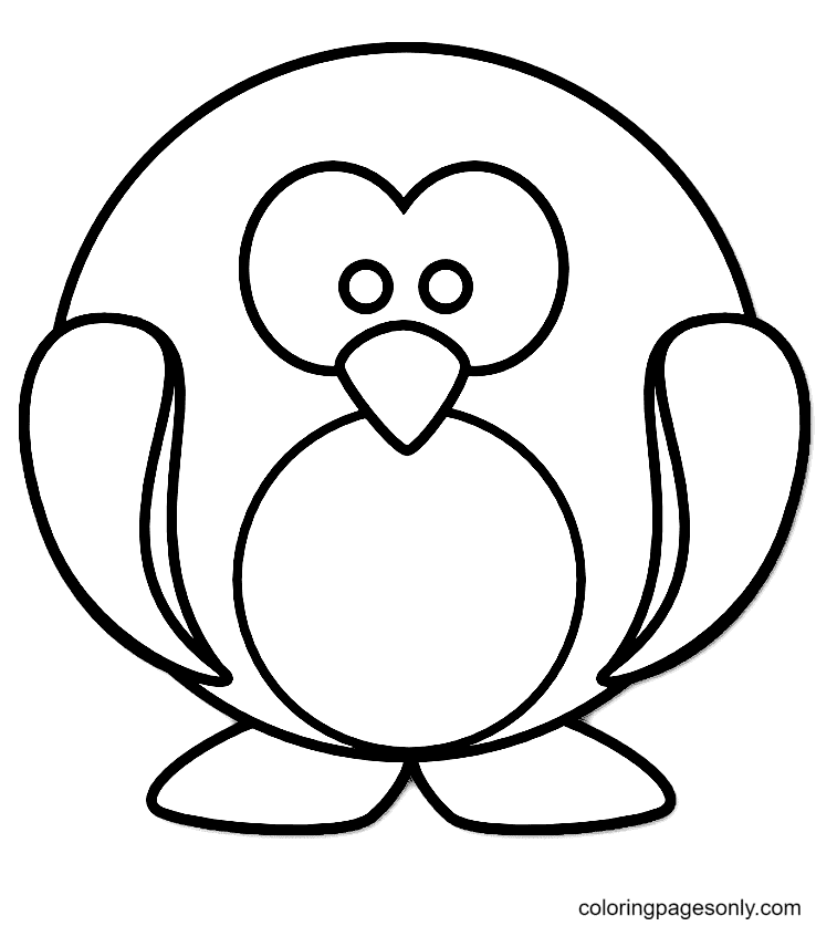 Cute Baby Penguin Coloring Page