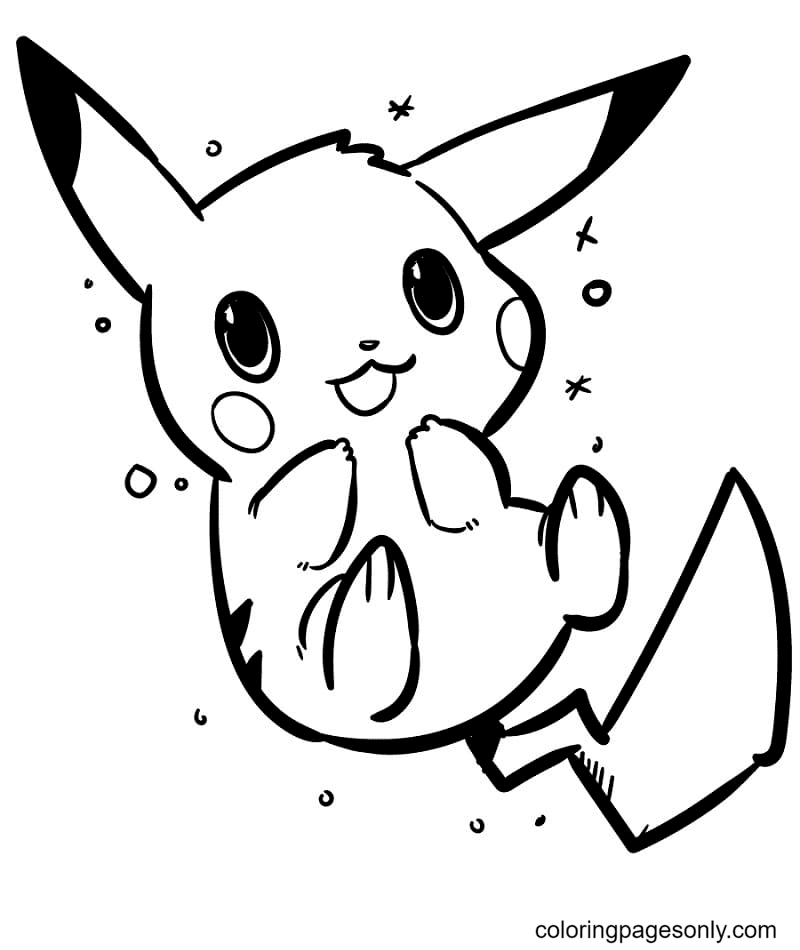 Cute Baby Pikachu Coloring Page