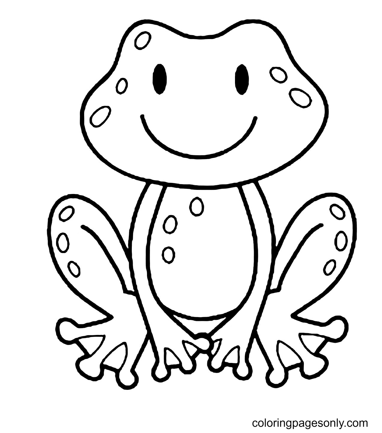 Cute Free Frog Coloring Page