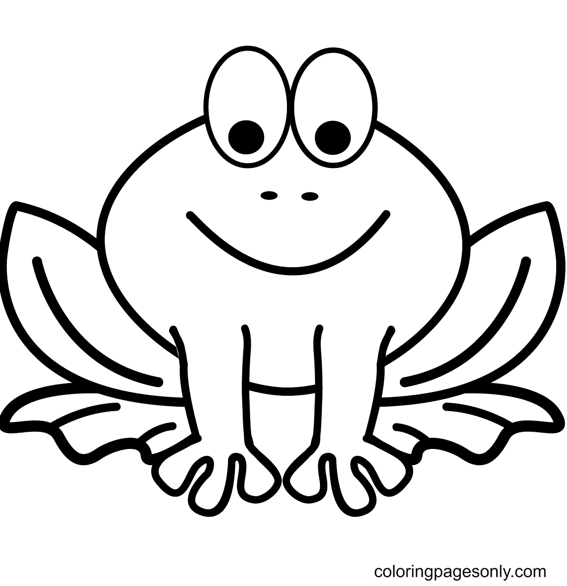 Cute Little Frog Coloring Page