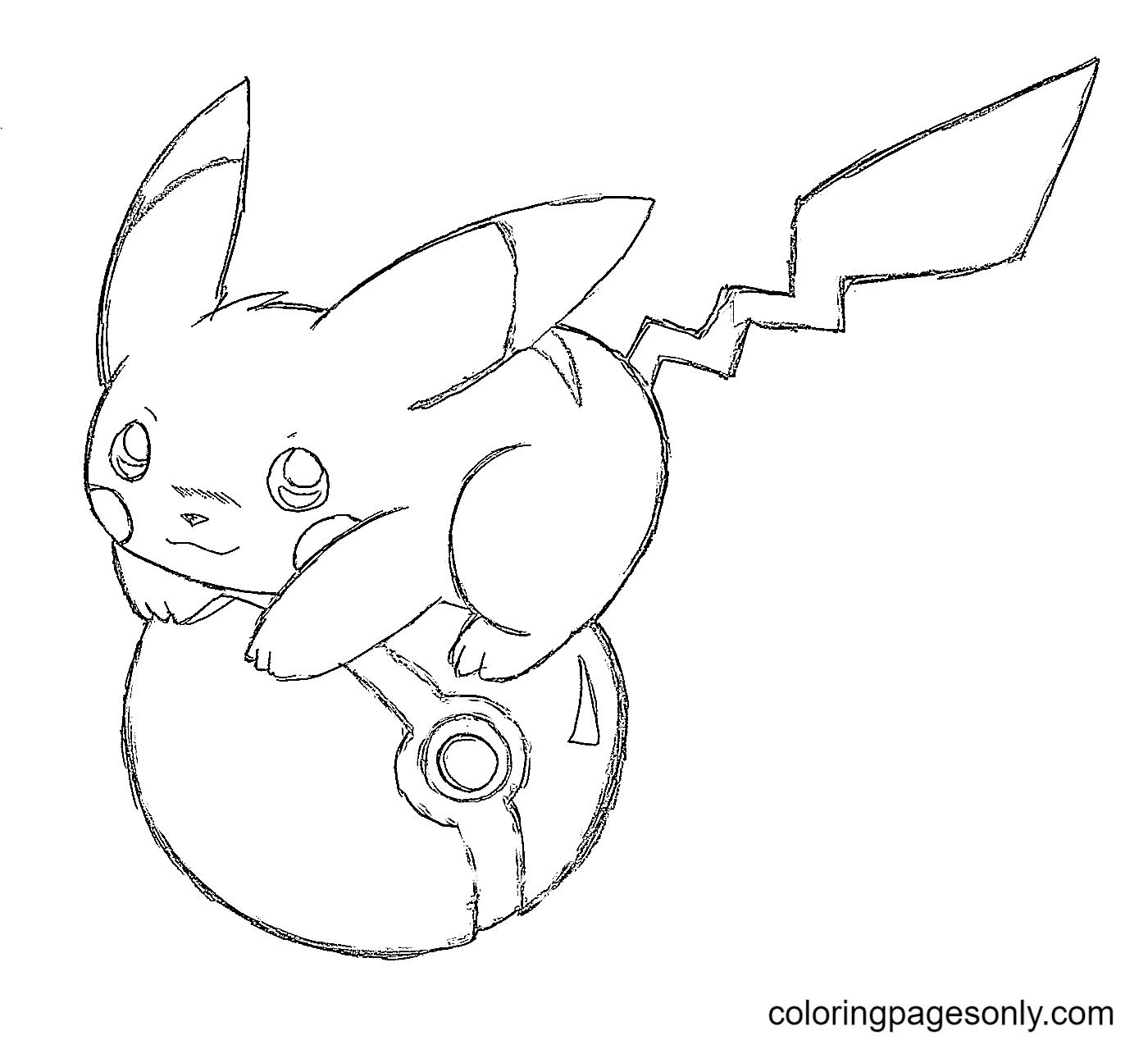 Cute Pokemon Pikachu Coloring Page