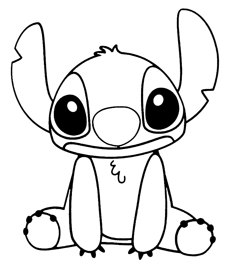 Cute Stitch Coloring Page