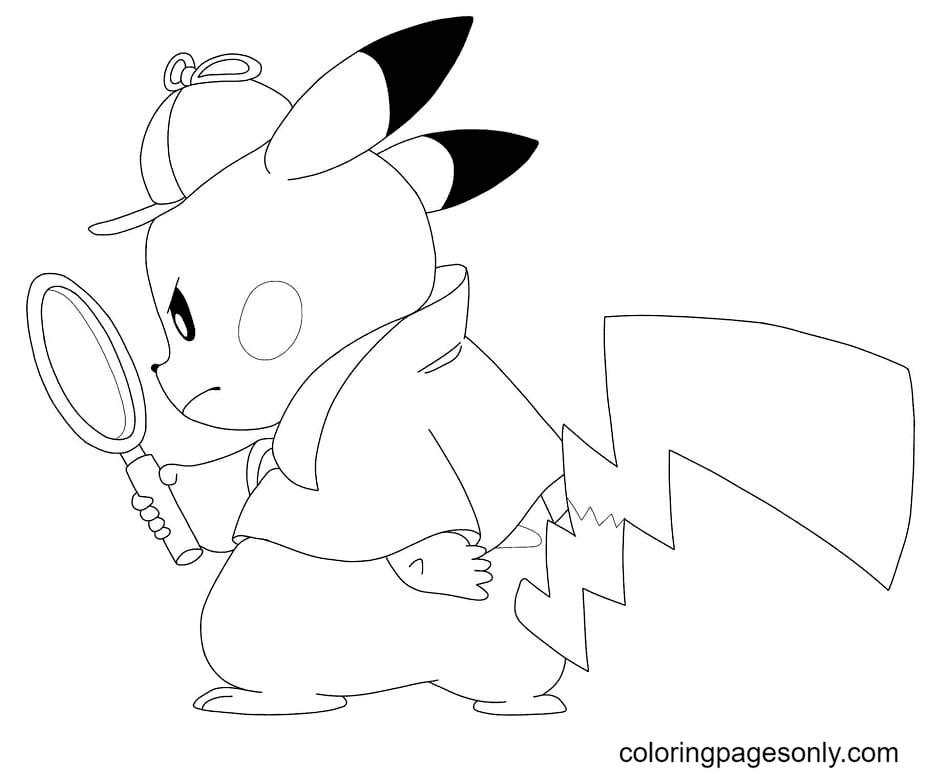 Detective Pikachu Coloring Page