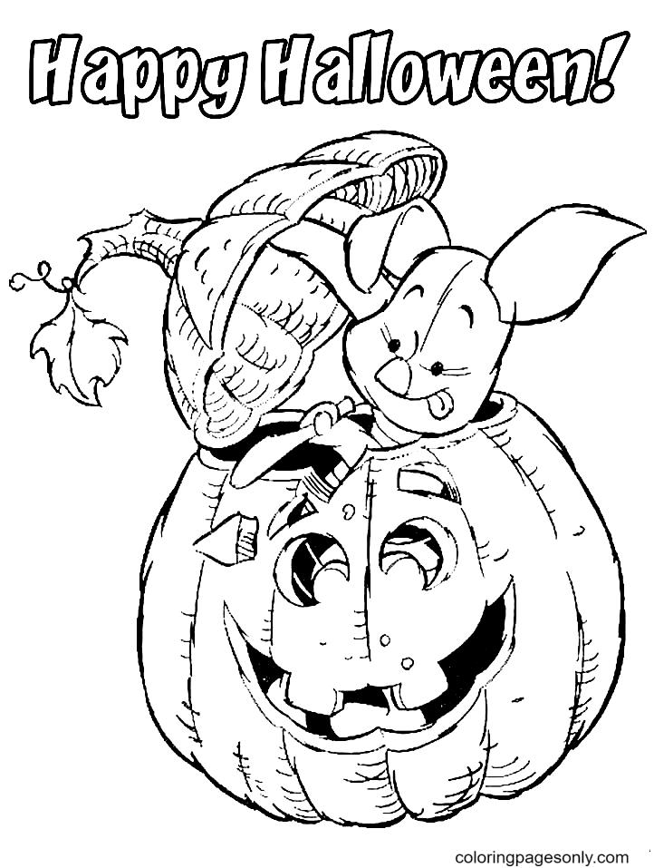 Disney Halloween Piglet Coloring Page
