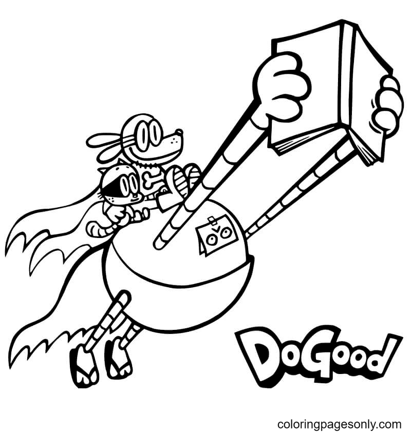 Dog Man – Do Good Coloring Page