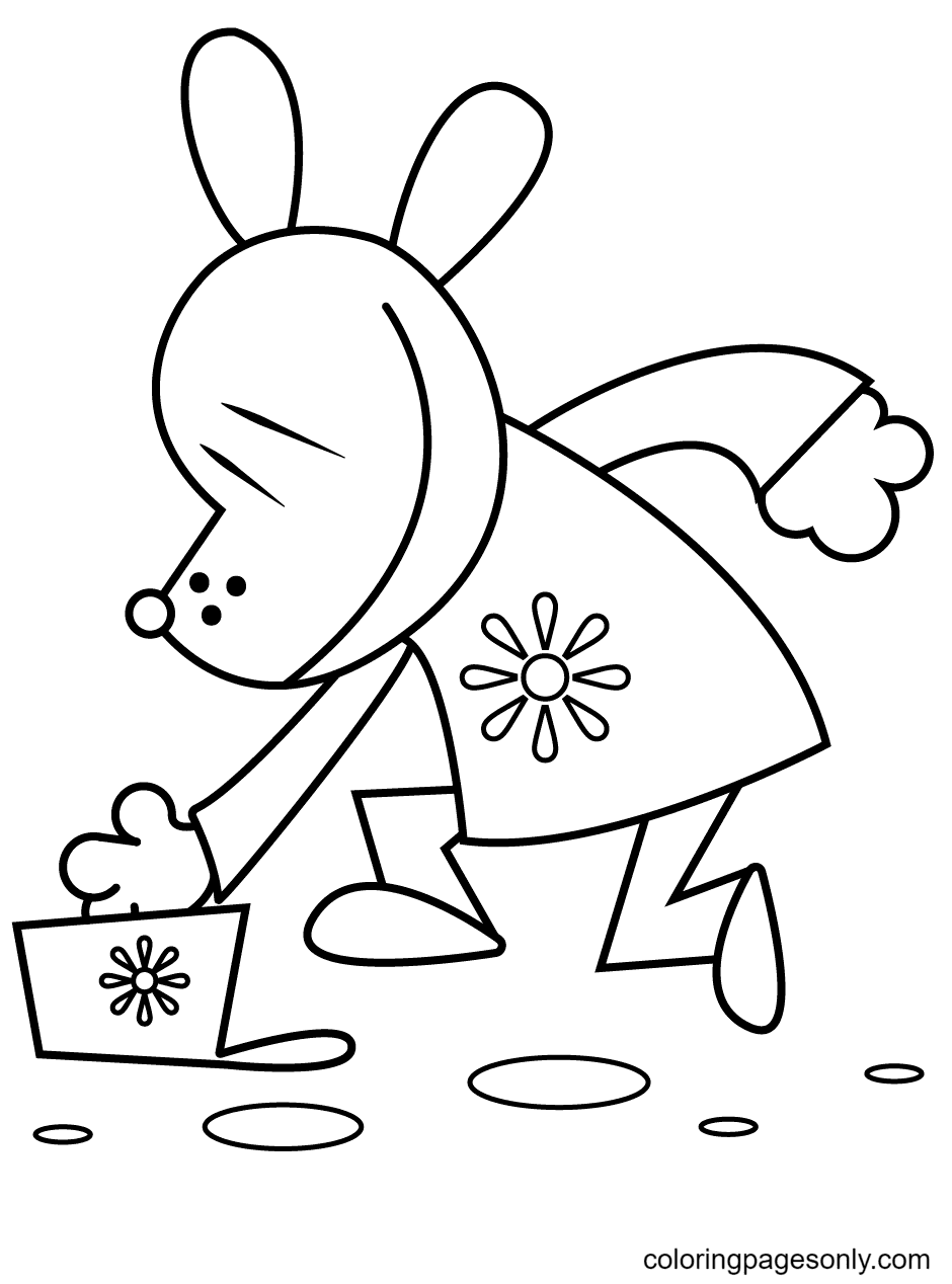 Dog Man Dropped His Hat Coloring Page