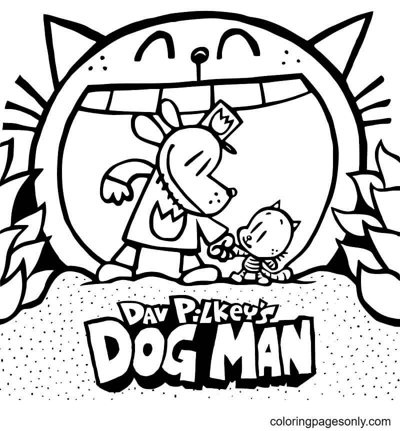 Dog Man Lords of The Fleas Coloring Page