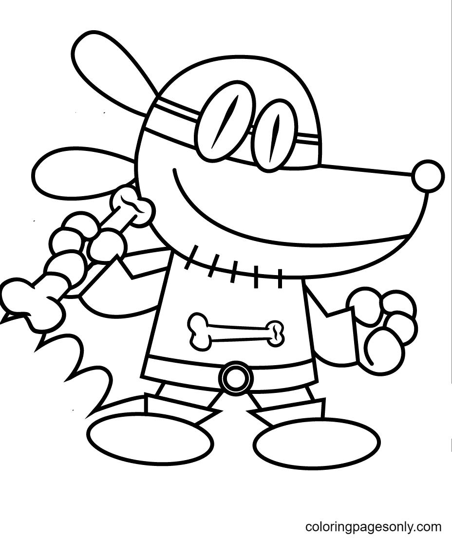Dog Man Printable Coloring Page