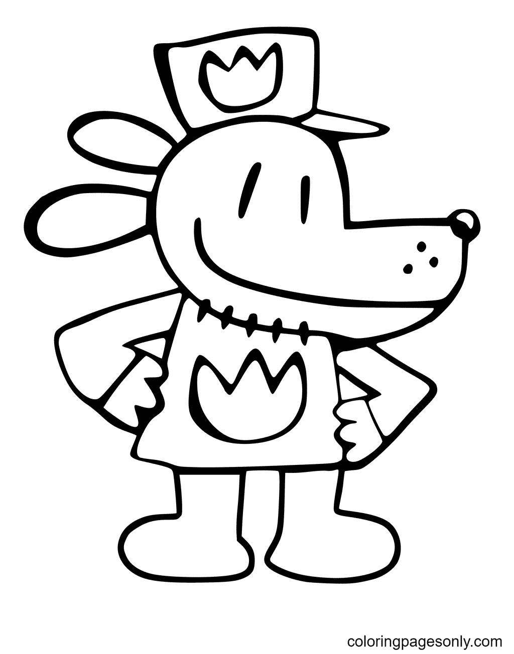 Dog Man Coloring Page