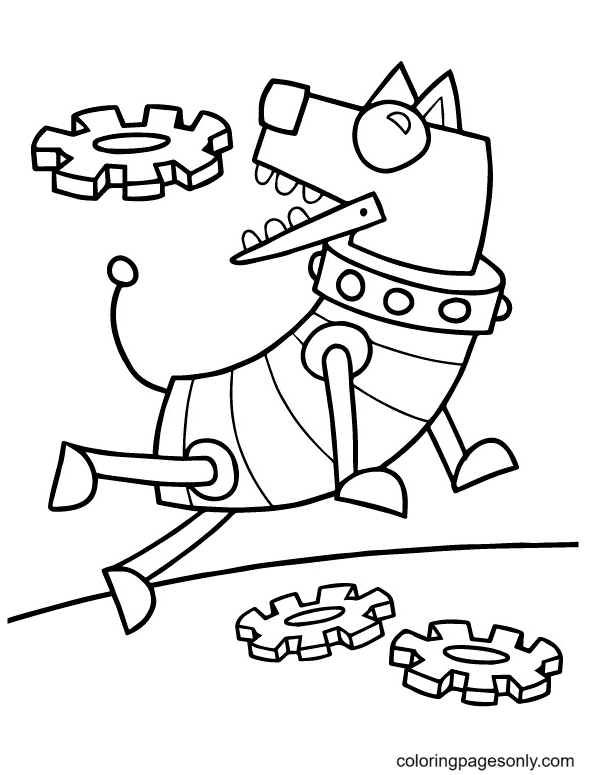 Doggy Robot Coloring Page