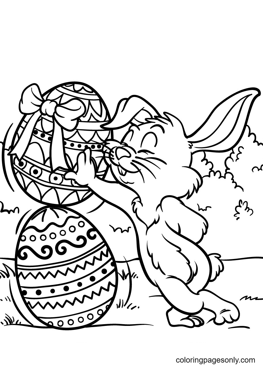 Easter Bunny for Kids Coloring Page