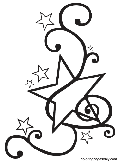 Fancy Star Coloring Page