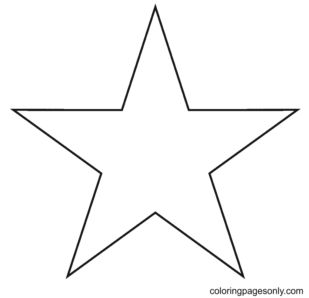 Five Pointed Star Coloring Page
