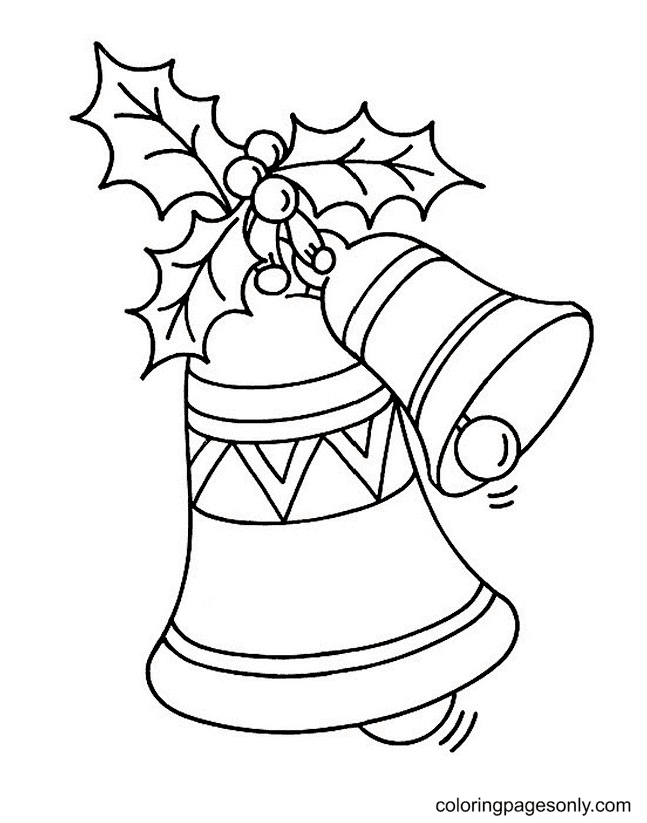 Free Christmas Bells Coloring Page