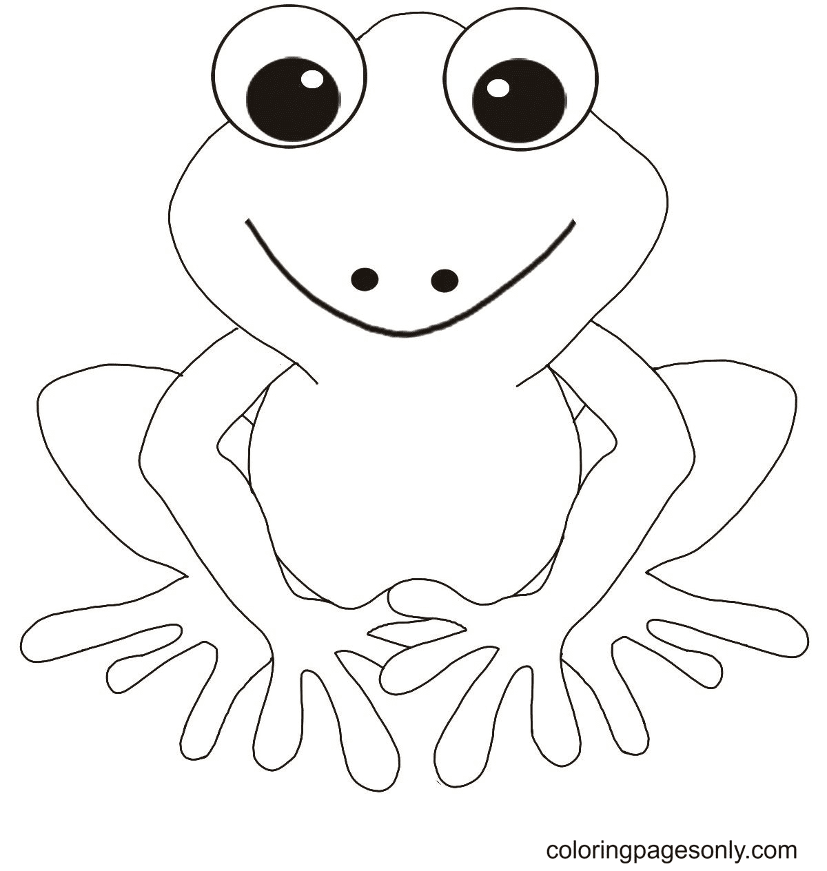 Free Frog Coloring Page