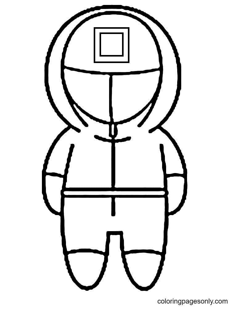 Free Printable Squid Game Coloring Page