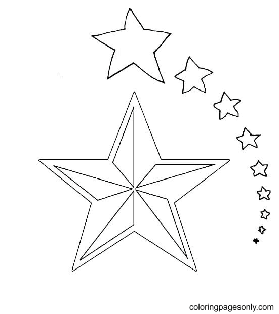 Free Printable Stars Coloring Page