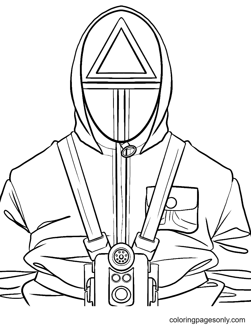 Free Squid Game Printable Coloring Page