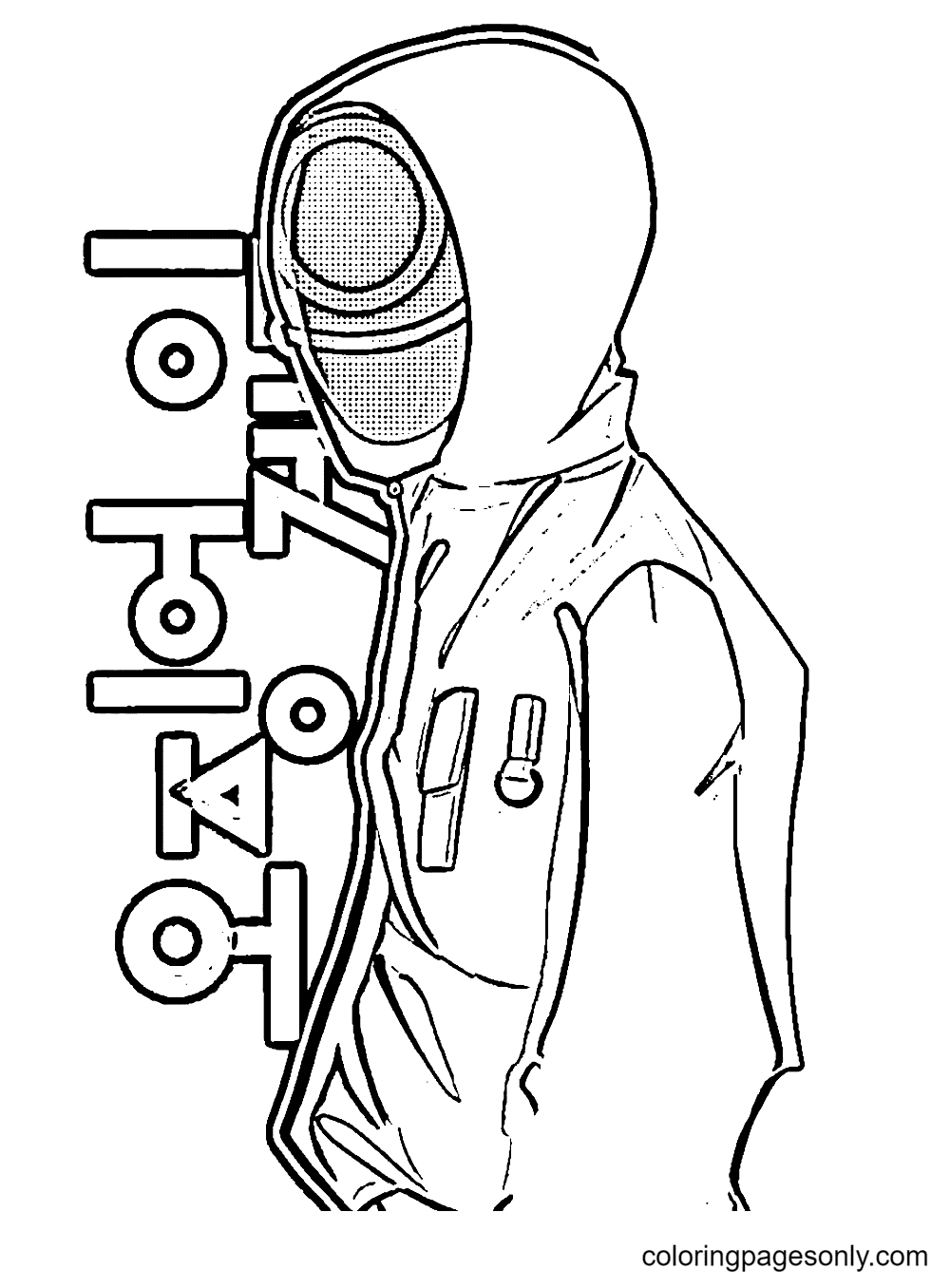Free Squid Game Coloring Page
