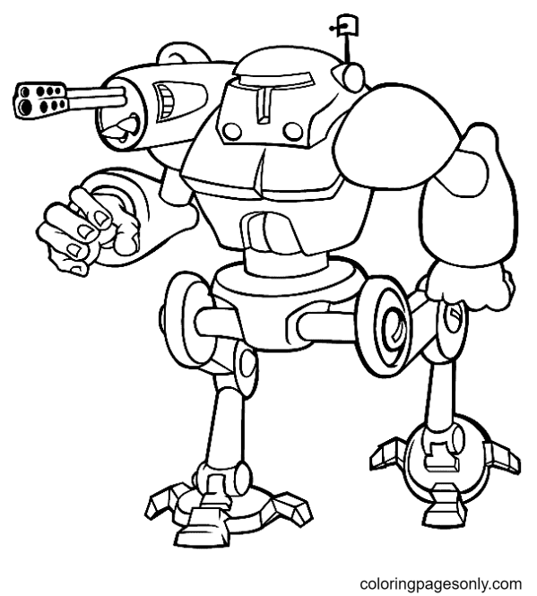Free To Print Robot Coloring Page