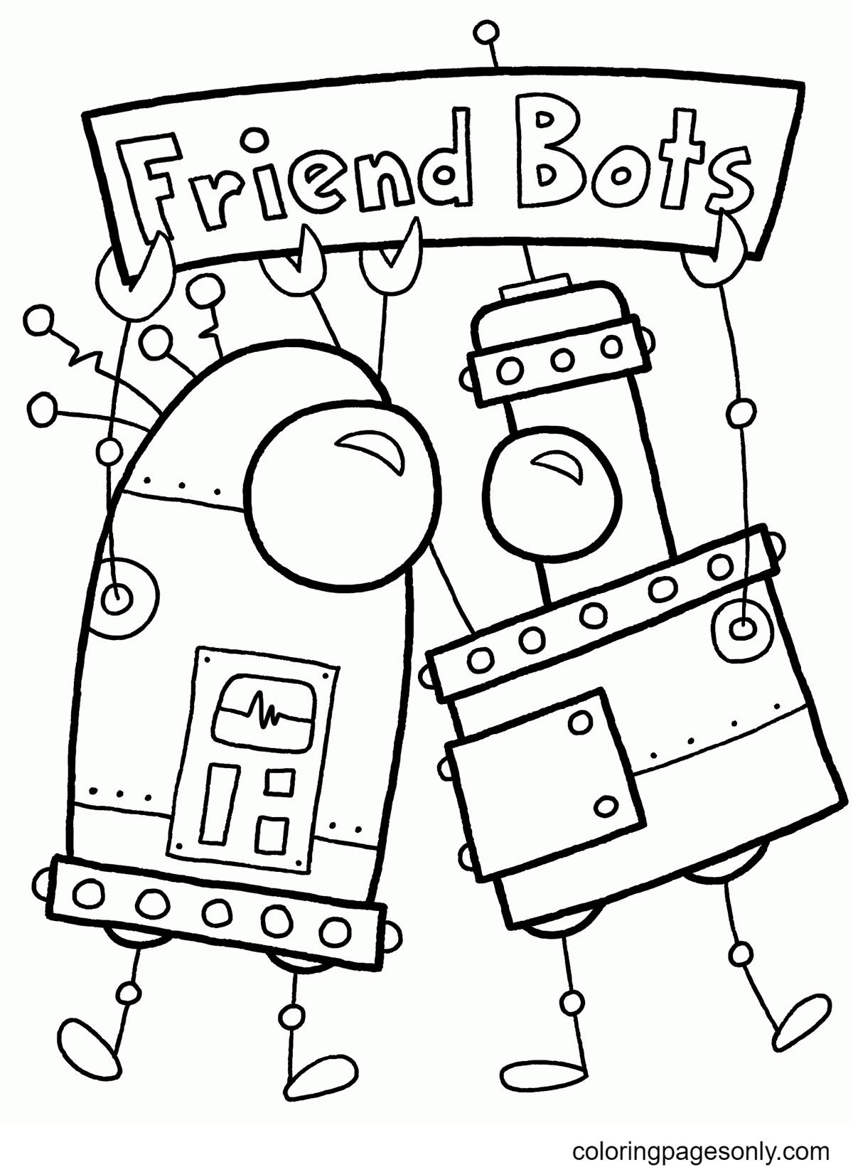 Friend Bots Coloring Page