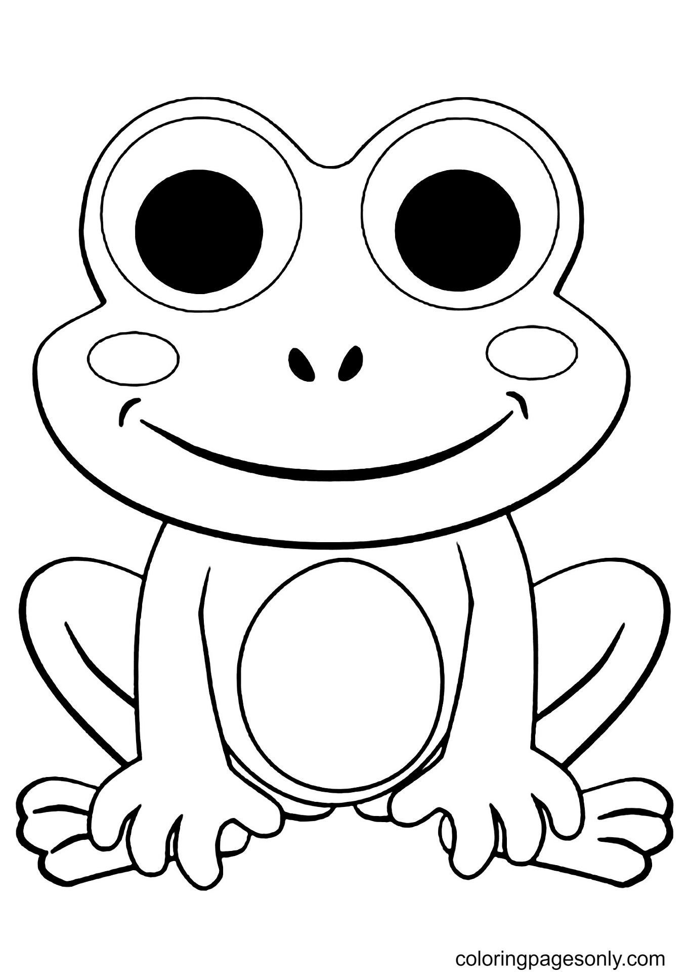 Frog to Print For Free Coloring Page