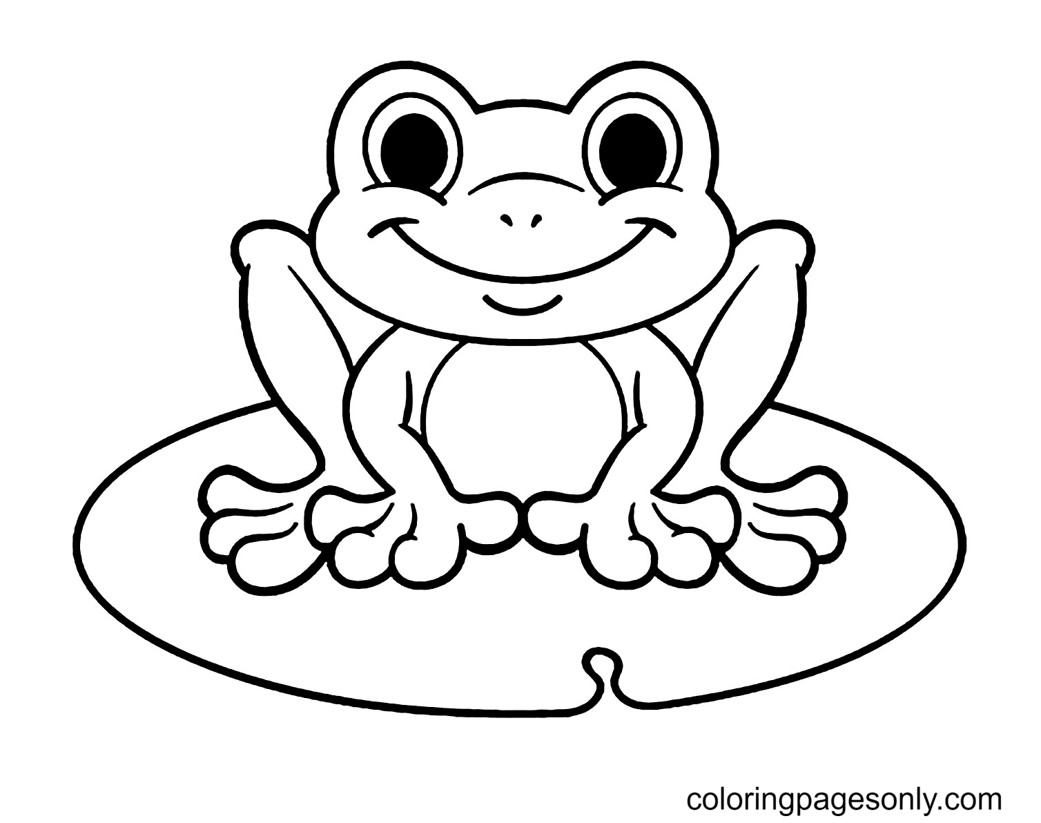 Frogs to Print For Free Coloring Page