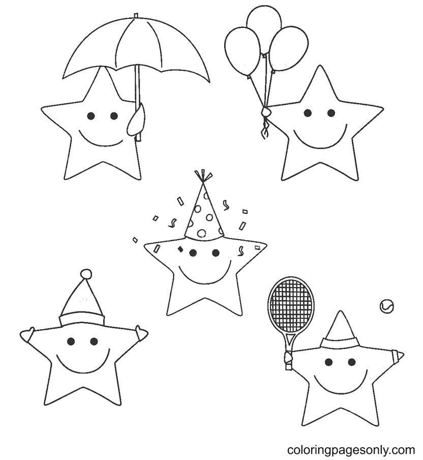 Fun Stars Coloring Page