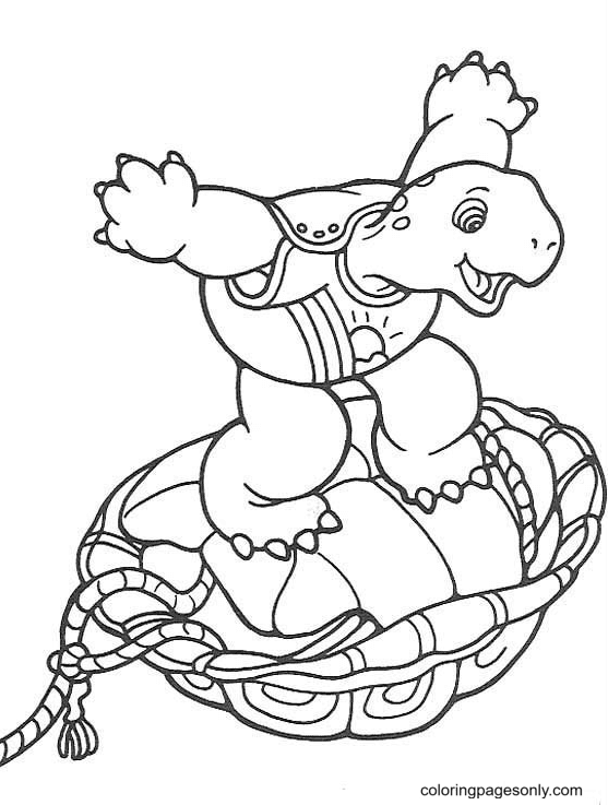 Funny Turtle Coloring Page
