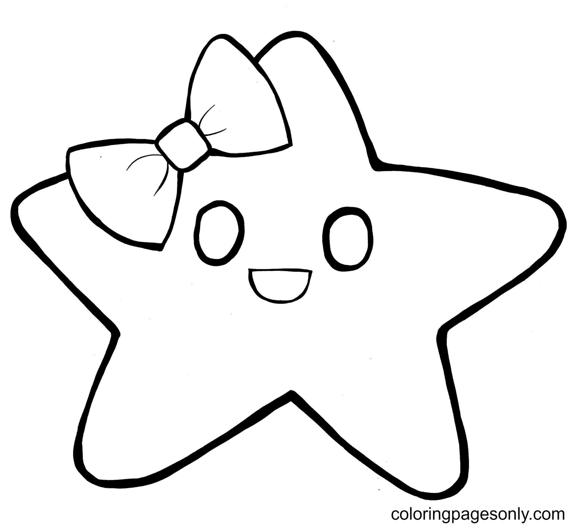Gentle Star Coloring Page
