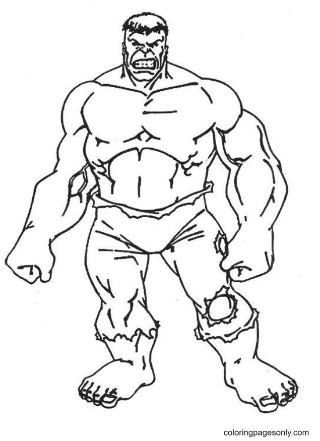 Incredible Hulk Free Coloring Page