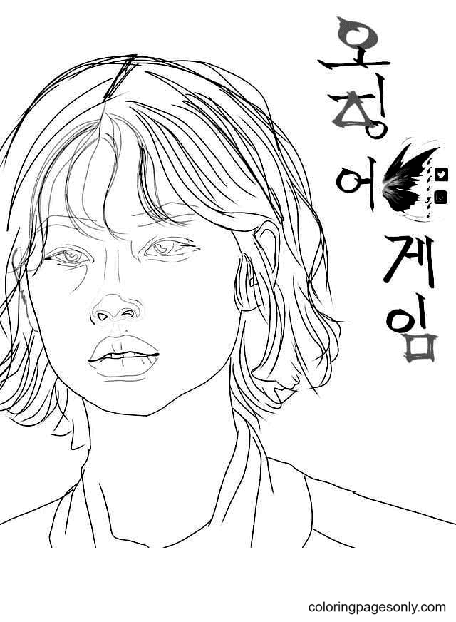 Kang Sae-Byeok from Squid Game Coloring Page