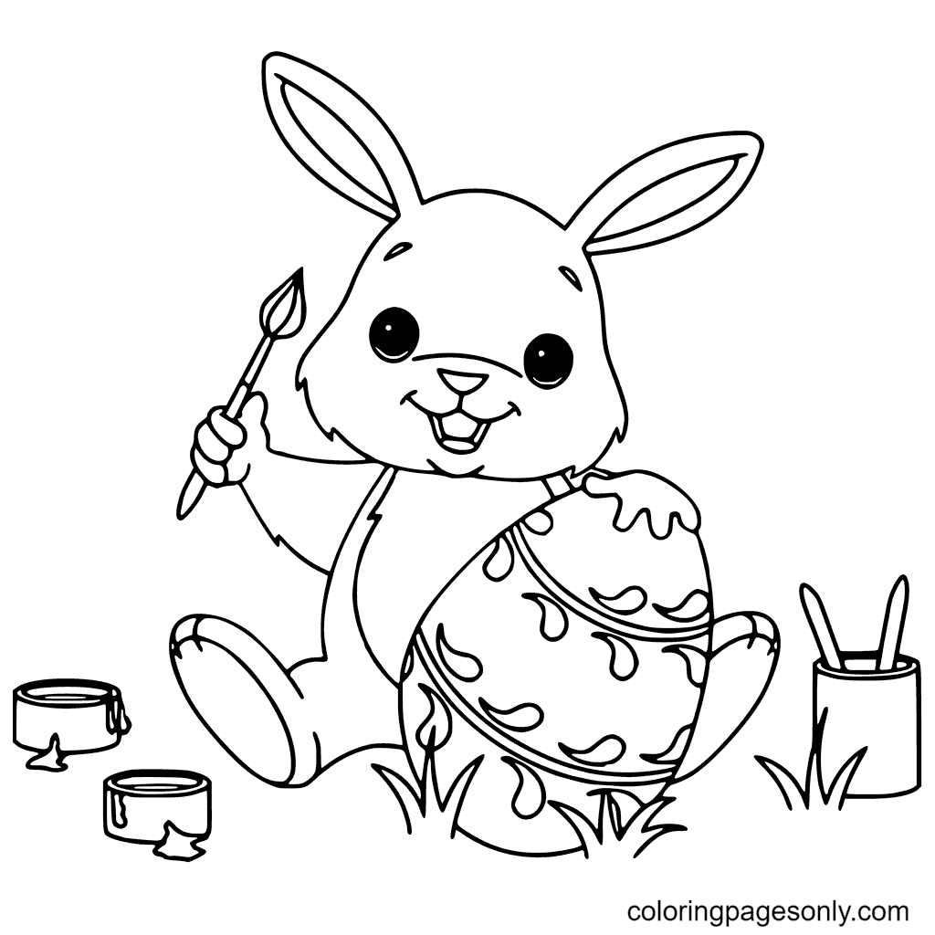 Little Easter Bunny Coloring Page